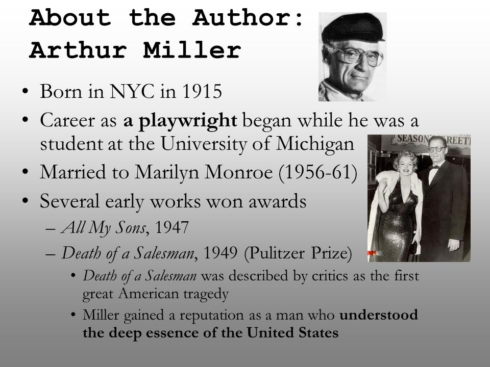About the Author: Arthur Miller