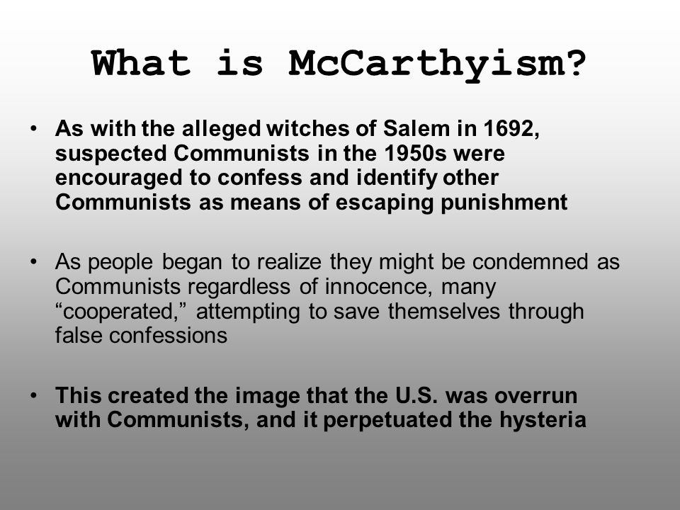 What is McCarthyism