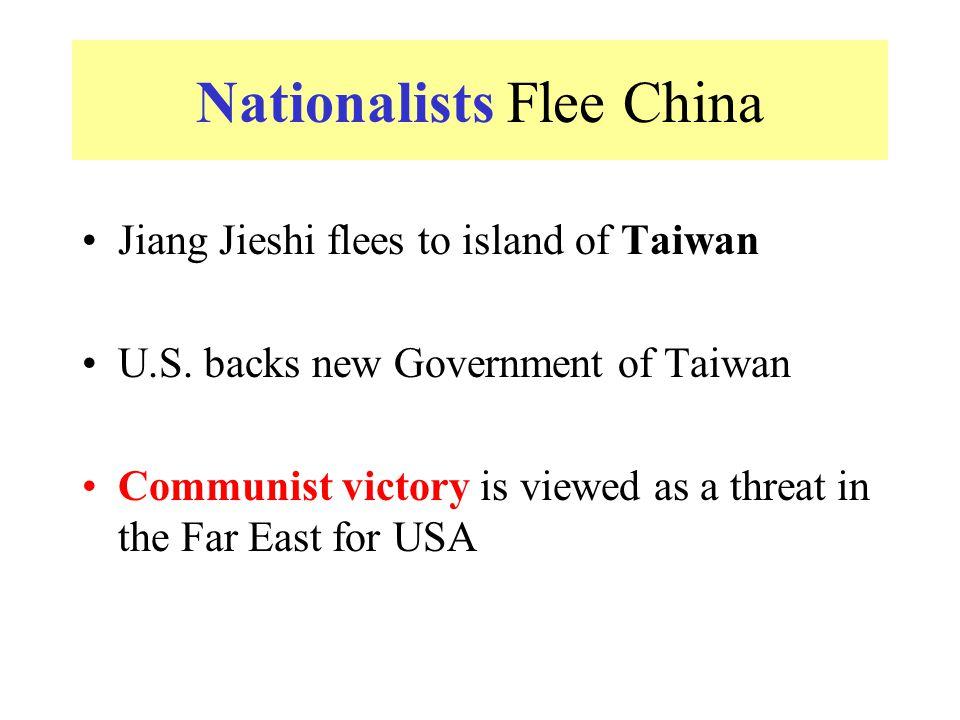 Nationalists Flee China