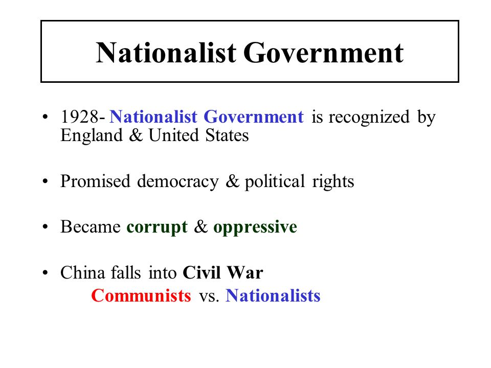 Nationalist Government