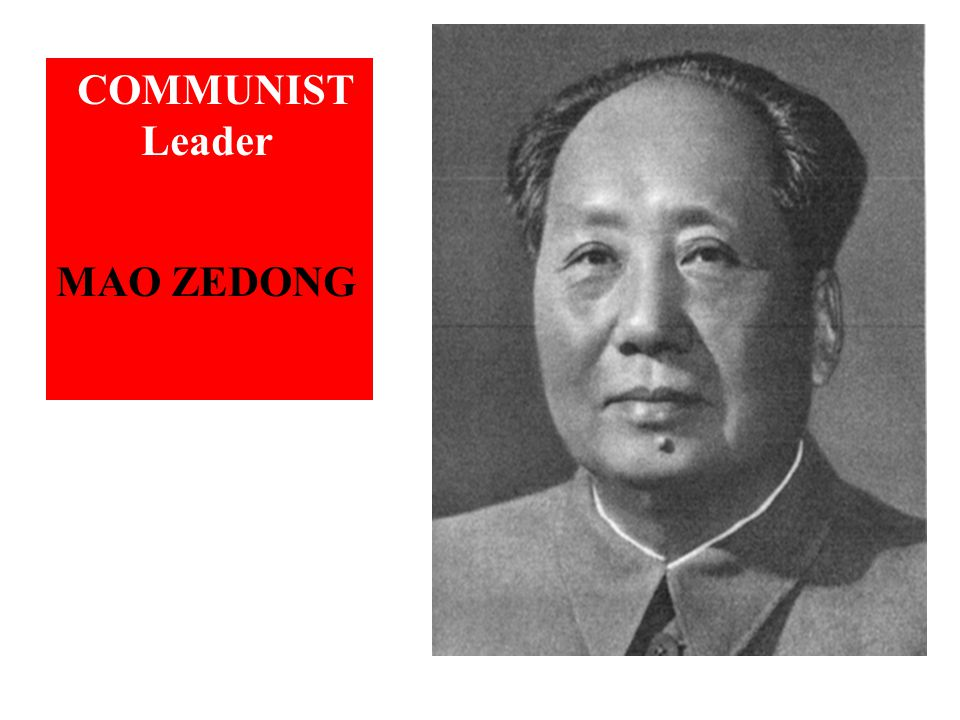 COMMUNIST Leader MAO ZEDONG