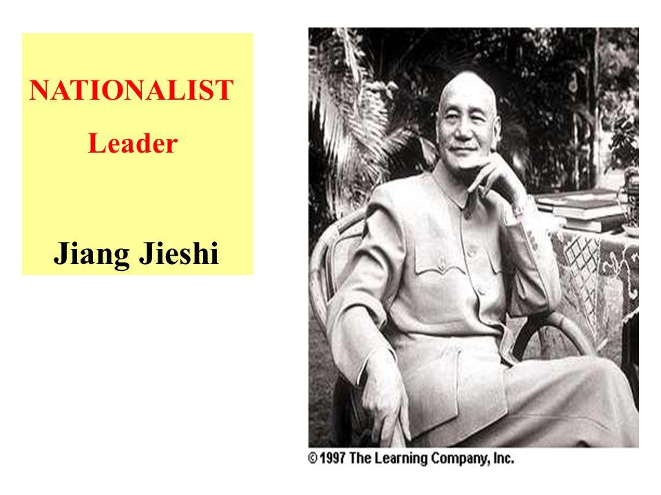 NATIONALIST Leader Jiang Jieshi