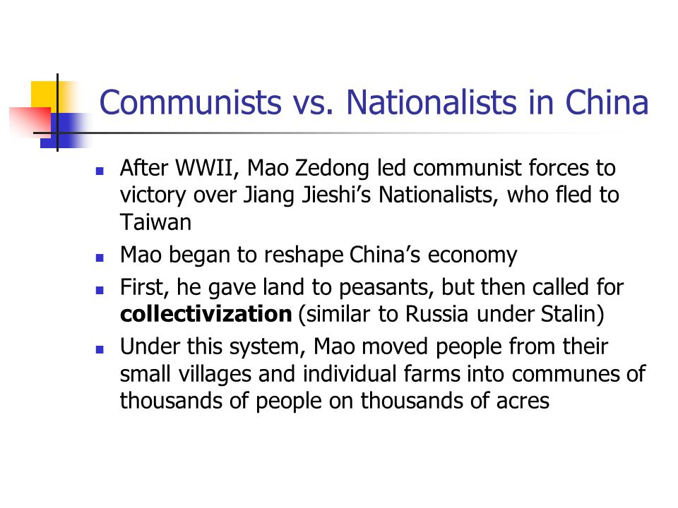Communists vs. Nationalists in China