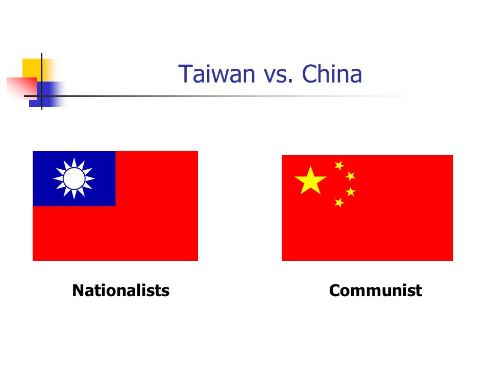 Taiwan vs. China Nationalists Communist