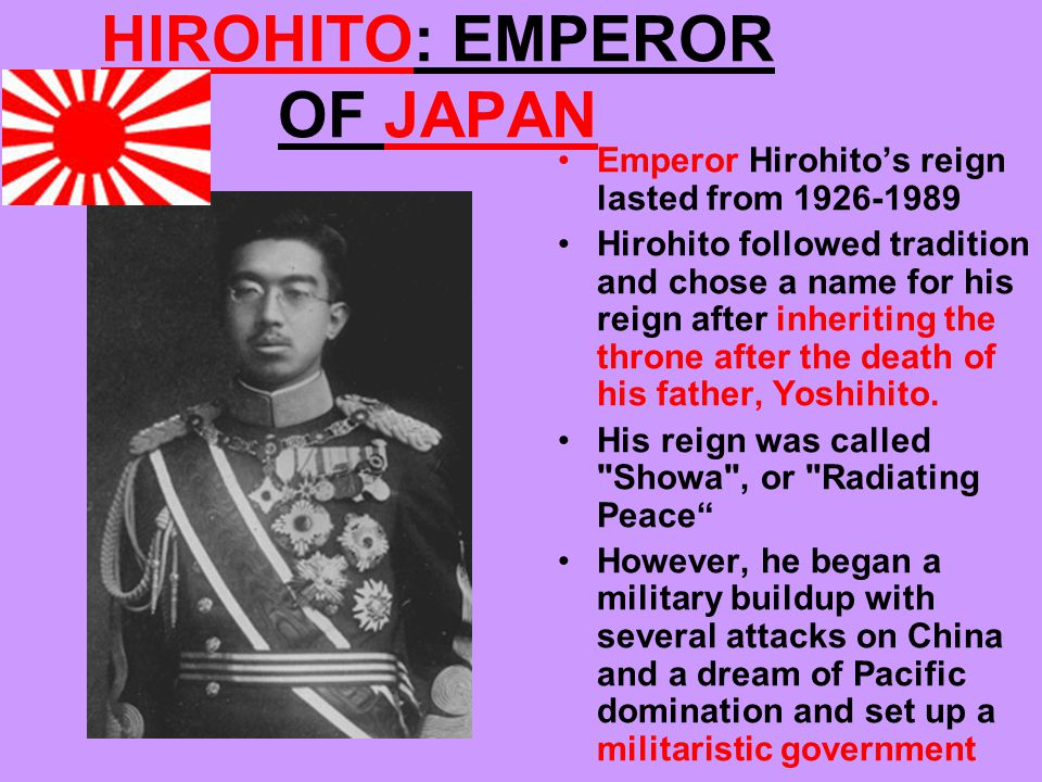 HIROHITO: EMPEROR OF JAPAN