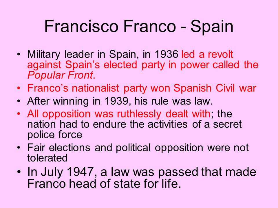Francisco Franco - Spain