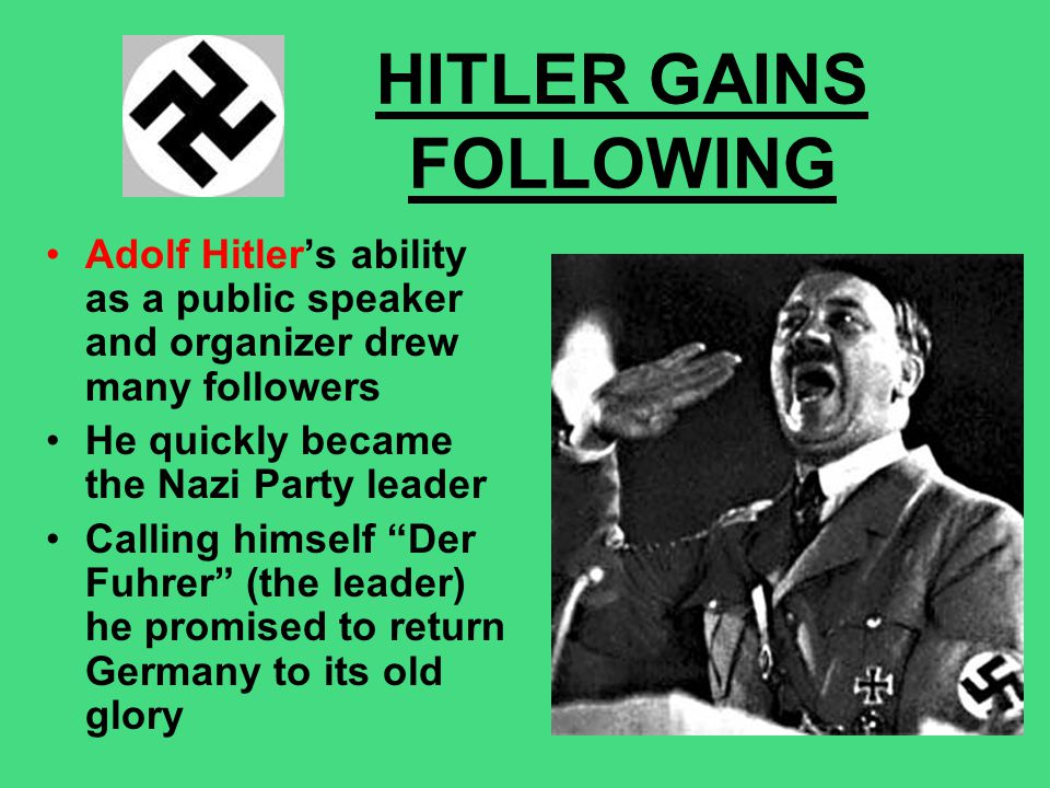 HITLER GAINS FOLLOWING