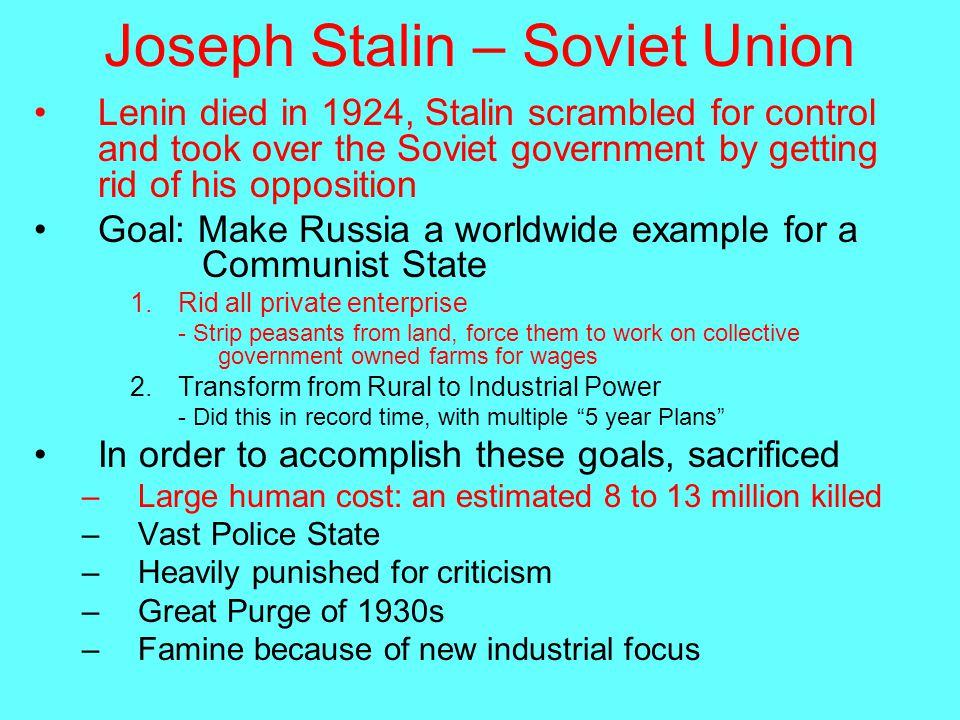 Joseph Stalin  Year Plan Essay