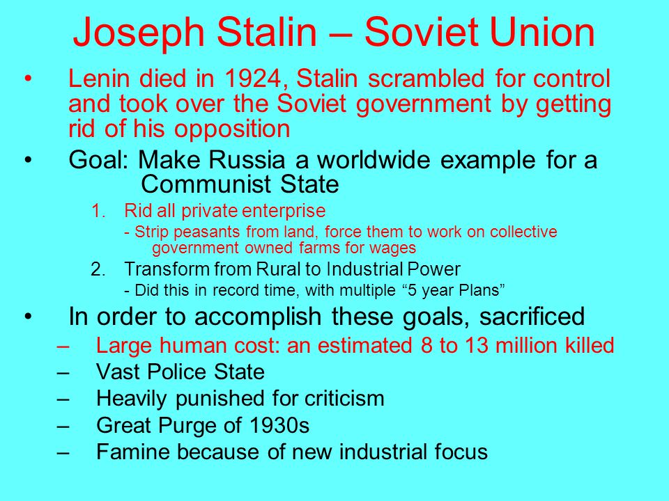 how did stalin achieve and maintain power Joseph stalin (1878-1953) was the dictator of the union of soviet socialist republics (ussr) from 1929 to 1953 under stalin, the soviet union was transformed from a peasant society into an.
