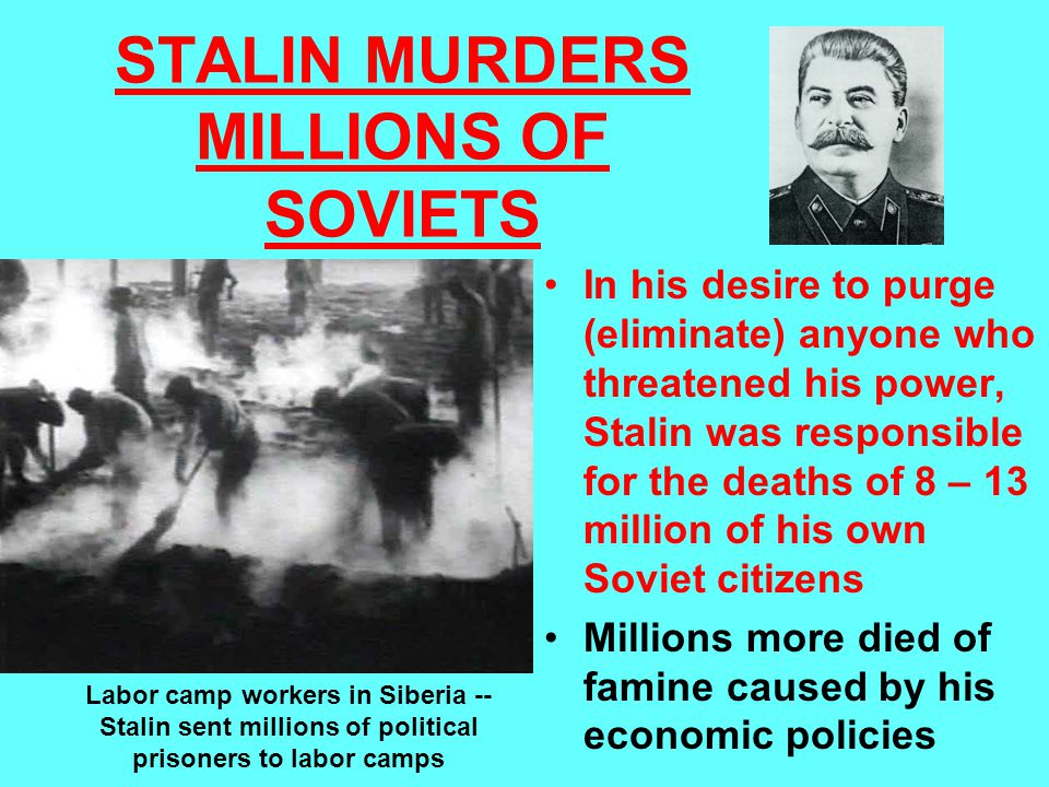 STALIN MURDERS MILLIONS OF SOVIETS