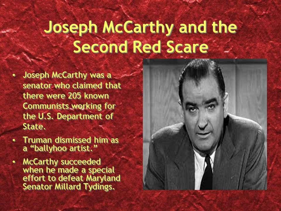 The history and causes of the red scare