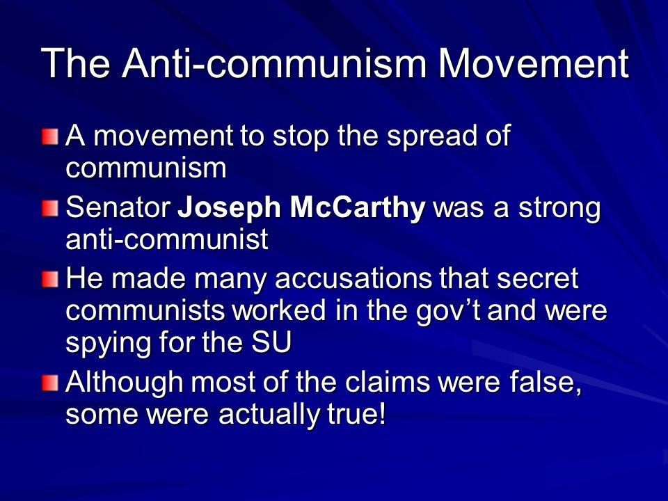 The Anti-communism Movement