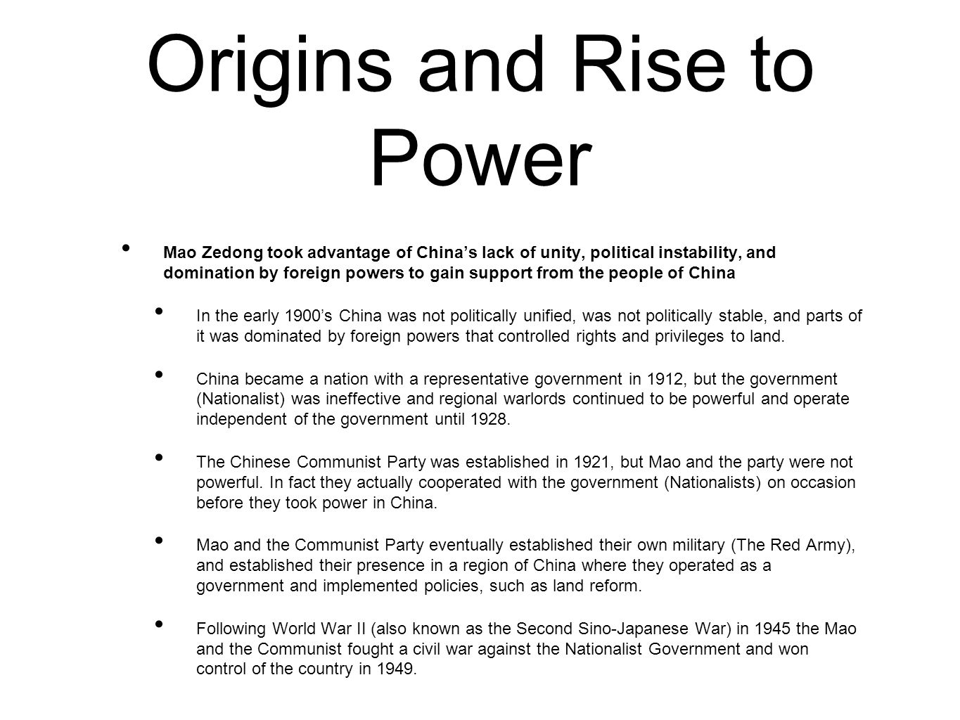 Origins and Rise to Power