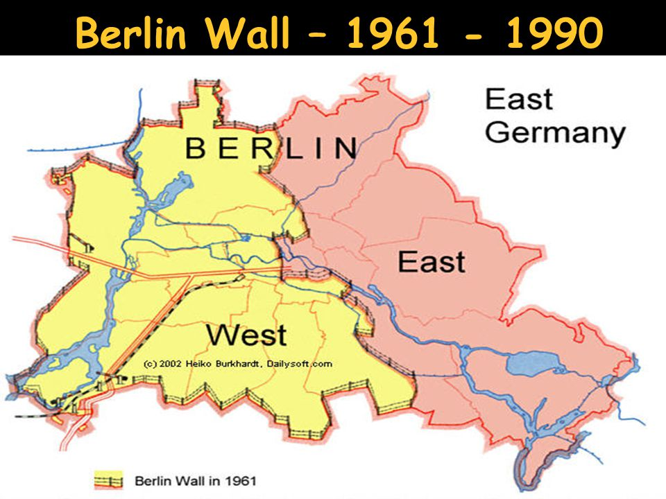 PreCold War Conferences Ppt Download - Berlin wall 1961 map
