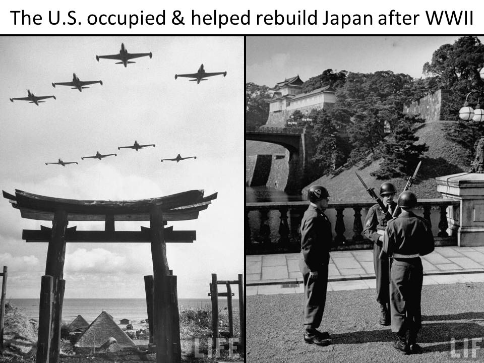 The U.S. occupied & helped rebuild Japan after WWII