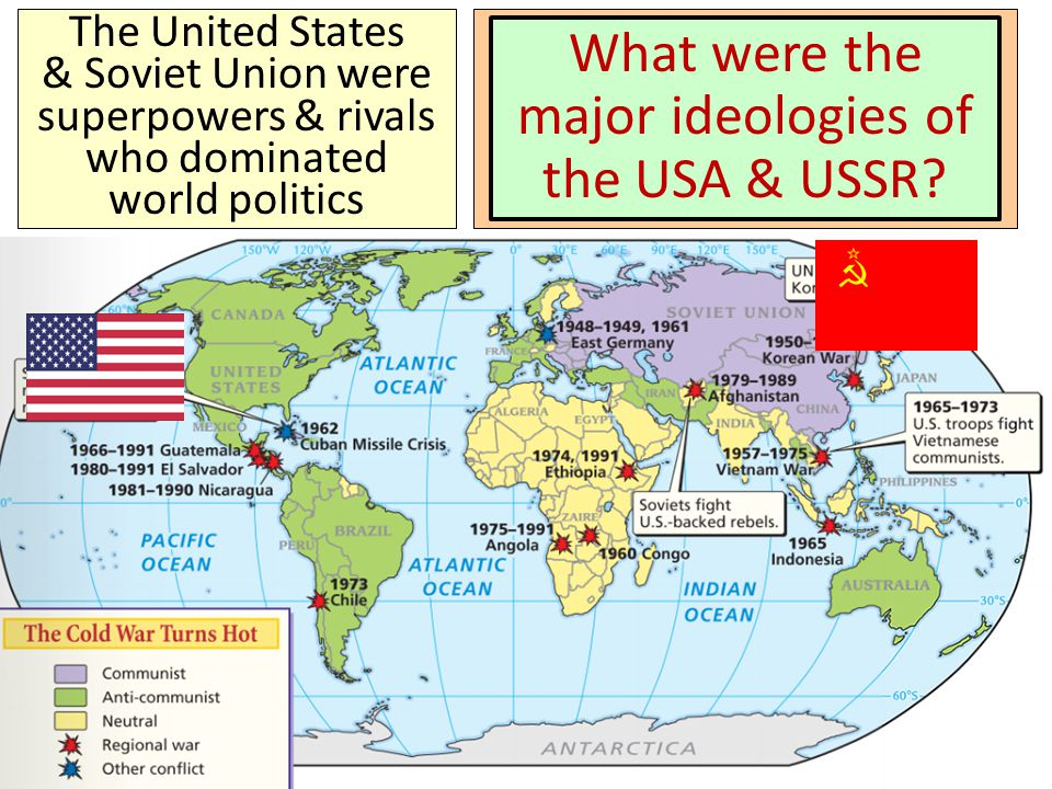 the conflict between the us and soviet union in the cold war Not all aspects of the cultural conflicts of the cold war were negative one of   political battles between the us and soviet union were not limited to europe.