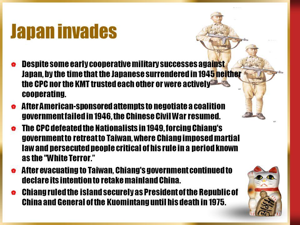 Japan invades