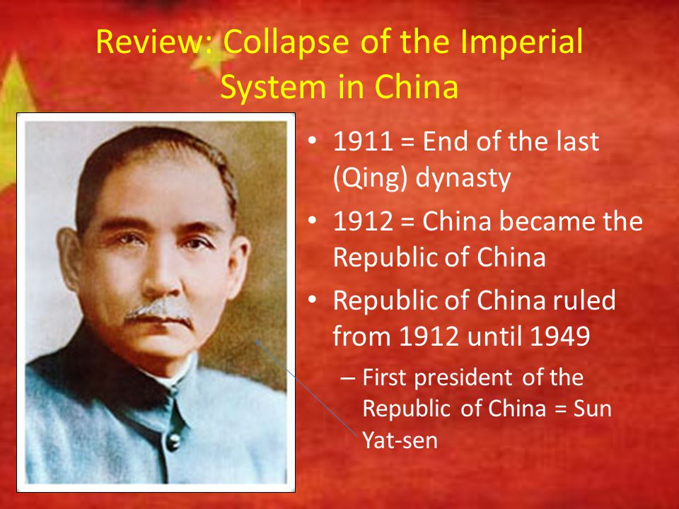 Review: Collapse of the Imperial System in China