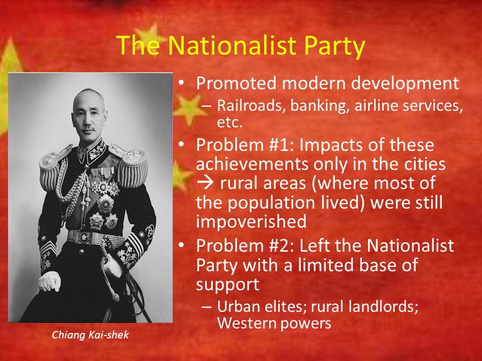 The Nationalist Party Promoted modern development