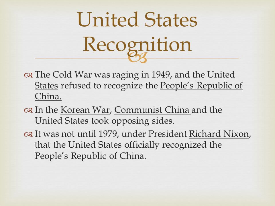 United States Recognition