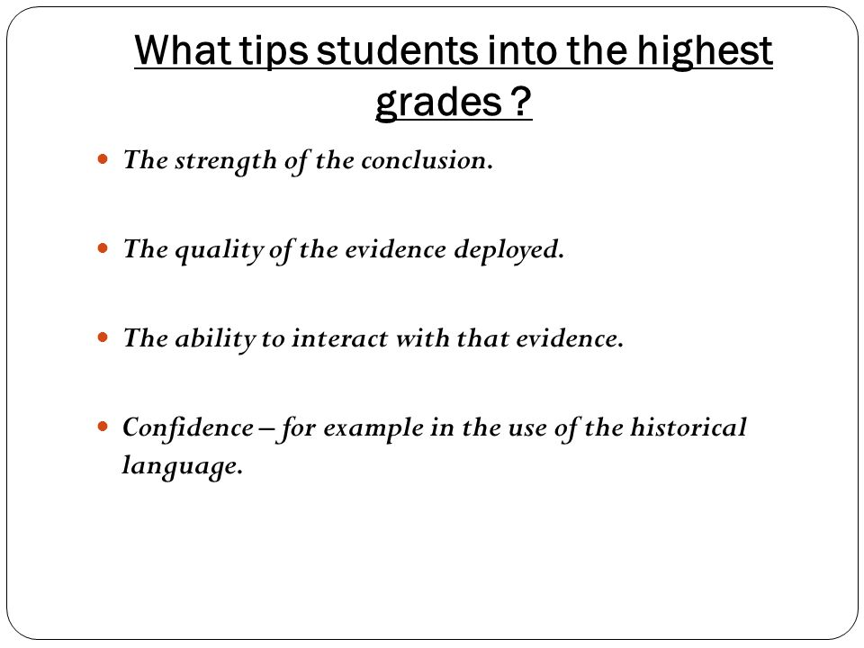 What tips students into the highest grades