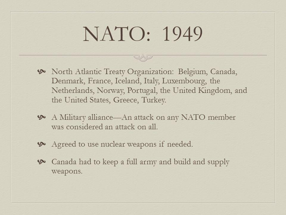 NATO: 1949