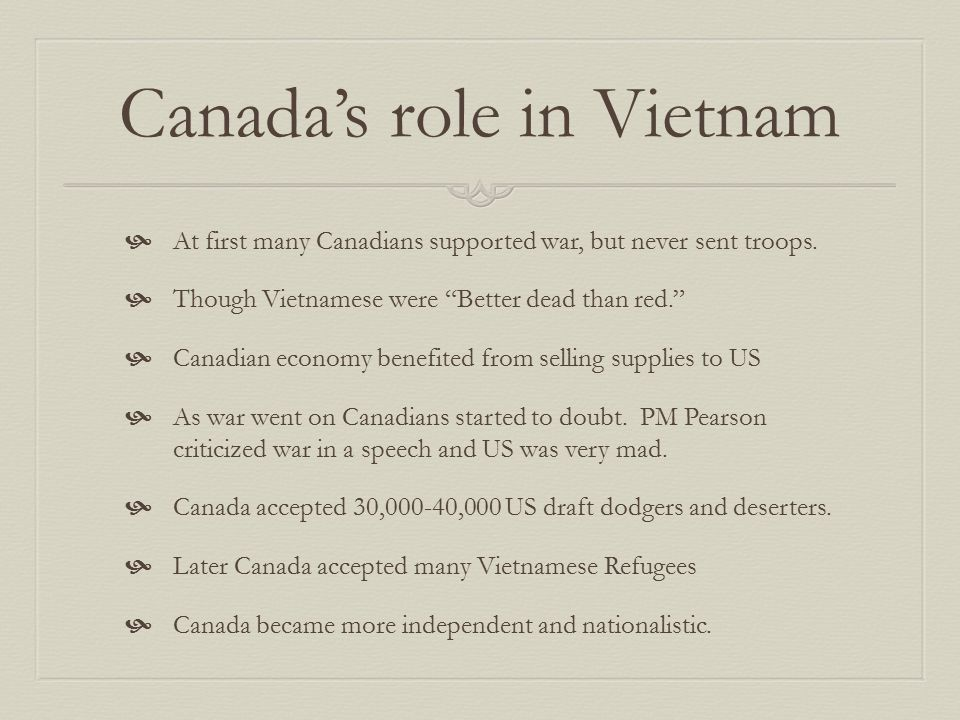 Canada's role in Vietnam