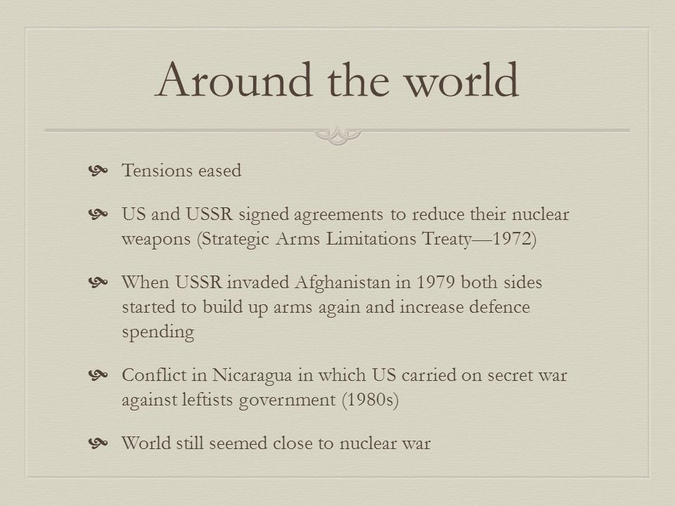 Around the world Tensions eased