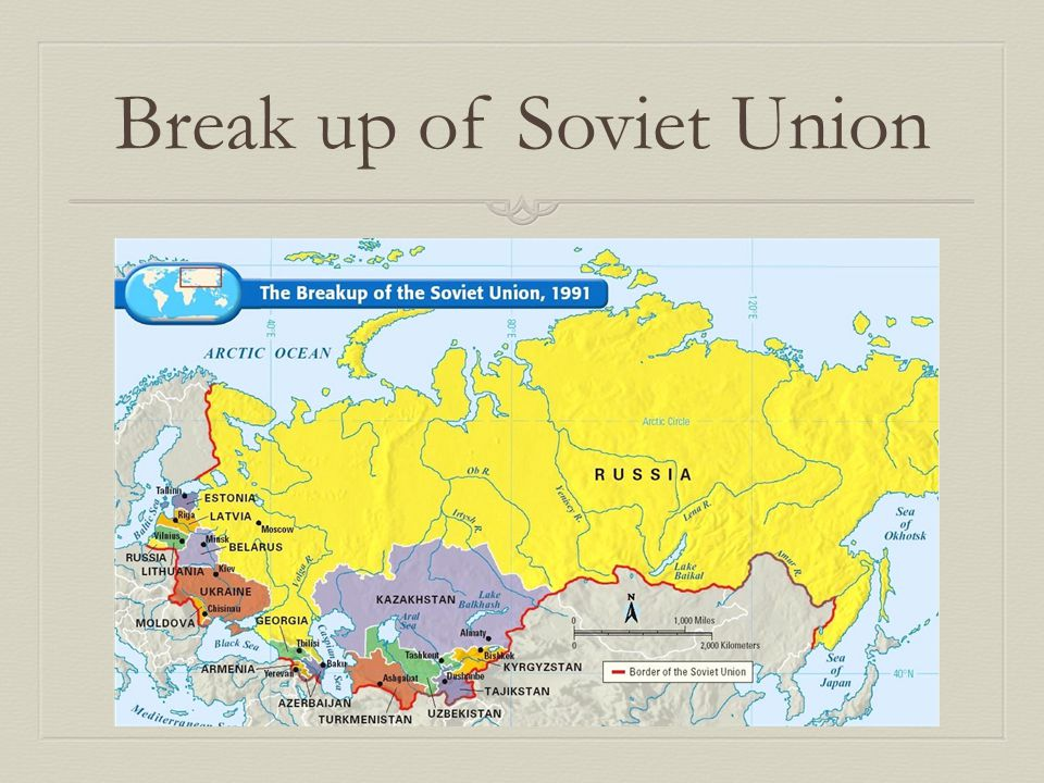 Break up of Soviet Union
