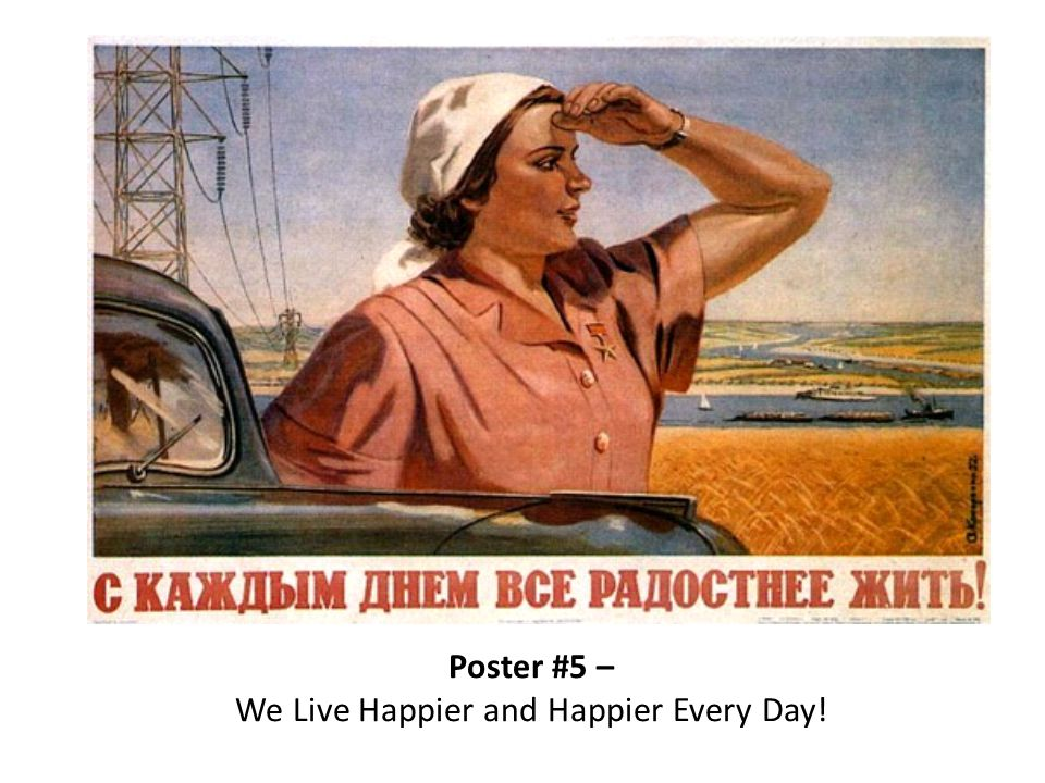 Poster #5 – We Live Happier and Happier Every Day!