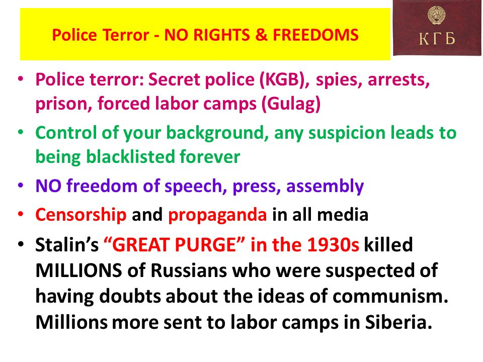 Police Terror - NO RIGHTS & FREEDOMS