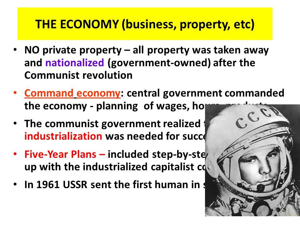 THE ECONOMY (business, property, etc)