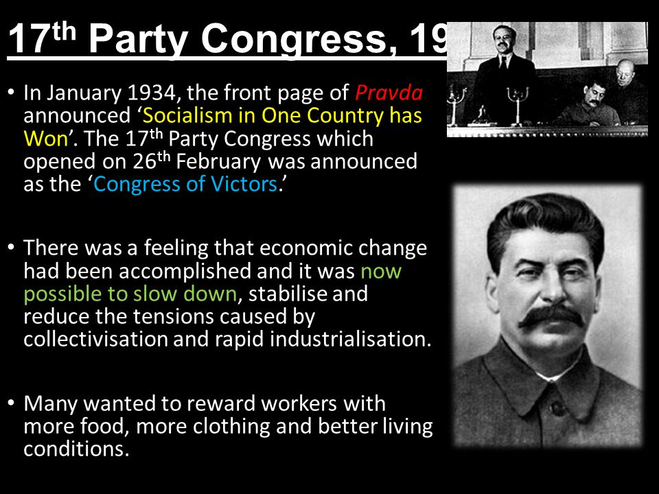 17th Party Congress, 1934