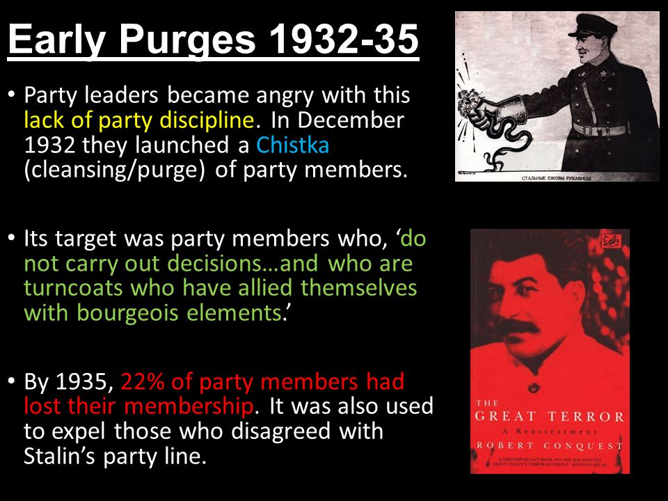 Early Purges 1932-35