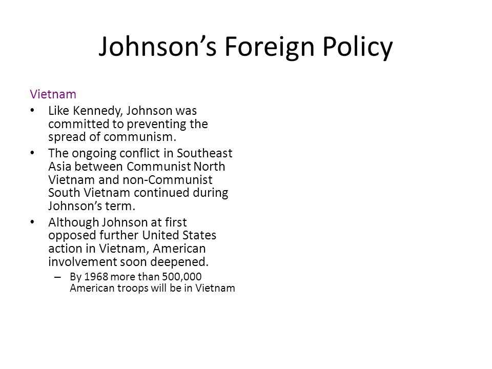 Johnson's Foreign Policy