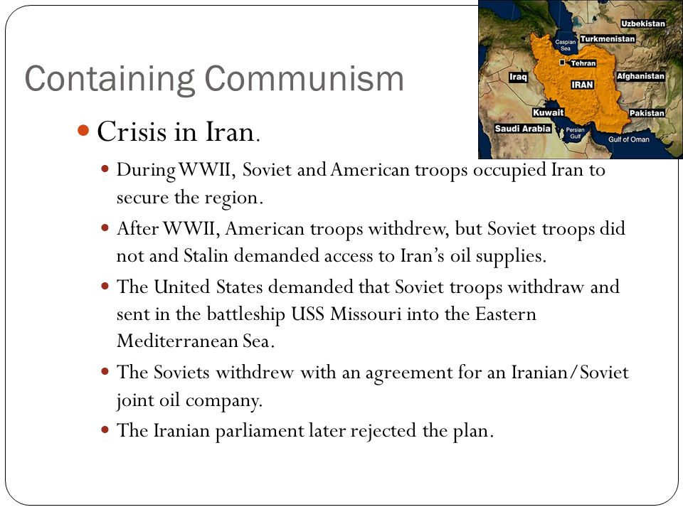 Containing Communism Crisis in Iran.