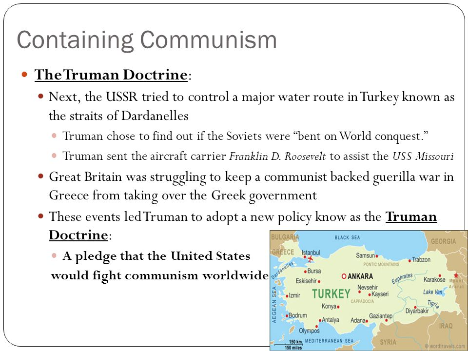 Containing Communism The Truman Doctrine: