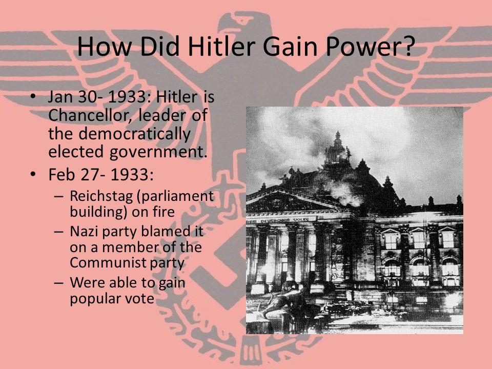 How Did Hitler Gain Power