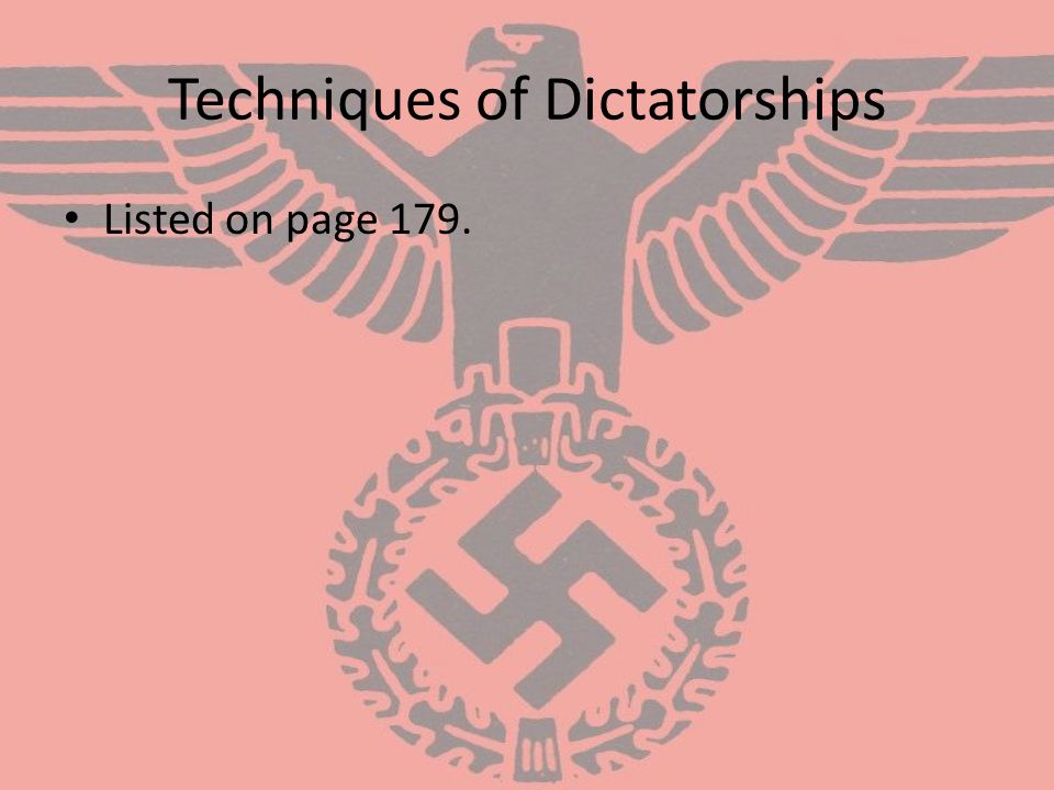Techniques of Dictatorships
