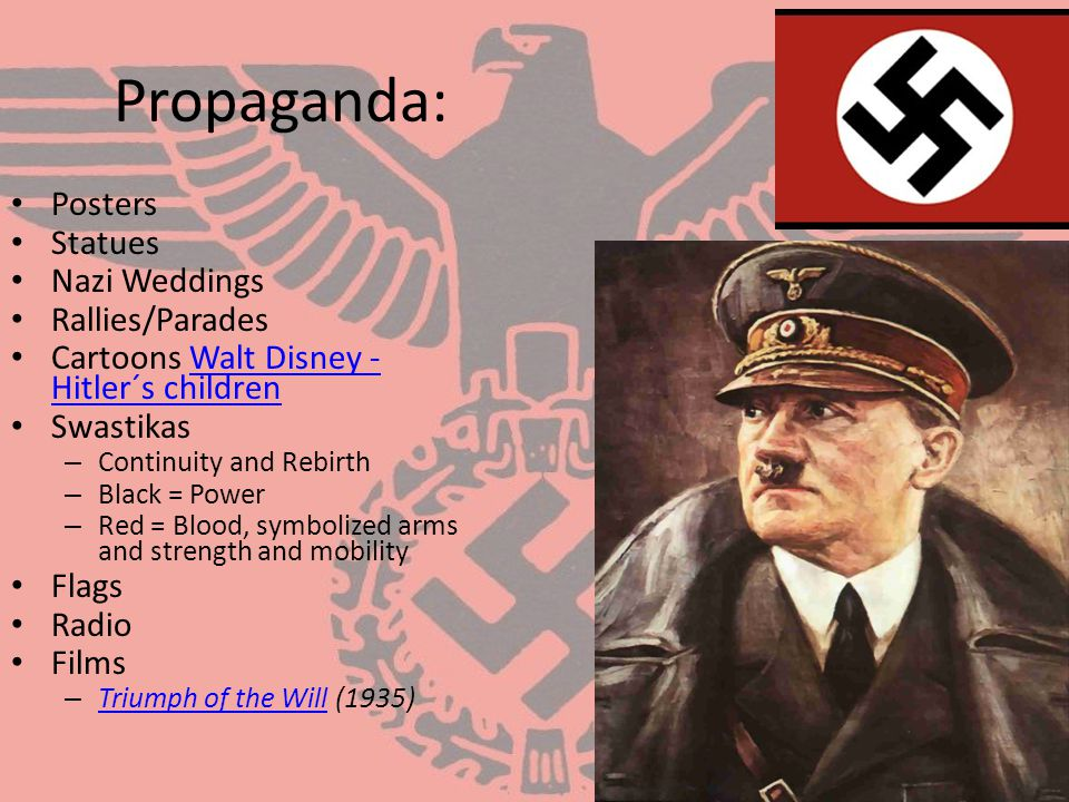 nazi propaganda Propaganda was central to nazi germany this page is a collection of english translations of national socialist propaganda for the period 1933-1945, part of a larger site on german propaganda.