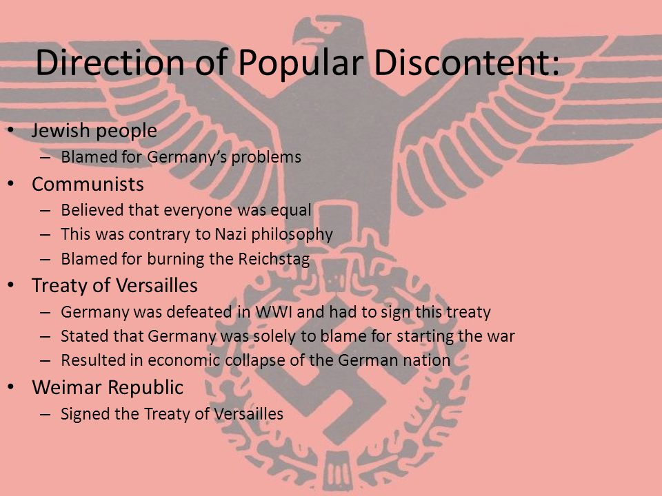 Direction of Popular Discontent: