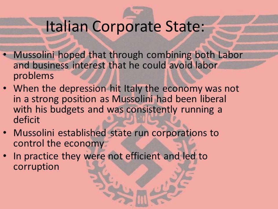 Italian Corporate State: