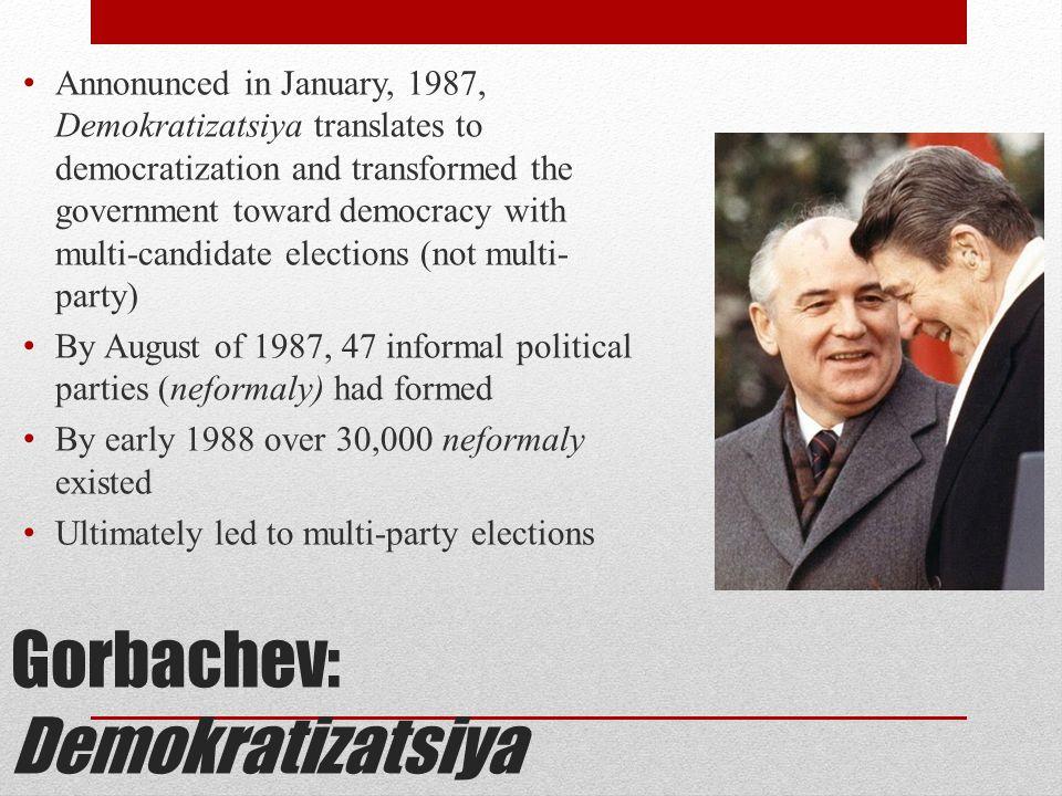 Gorbachev: Demokratizatsiya
