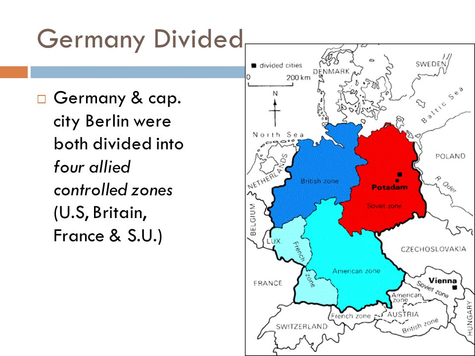 Germany Divided Germany & cap.