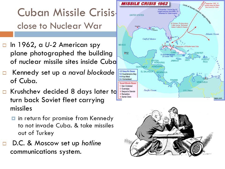 Cuban Missile Crisis- close to Nuclear War