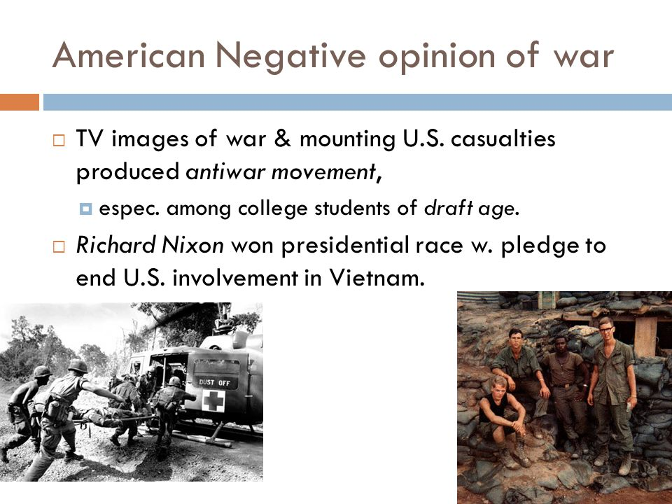 American Negative opinion of war