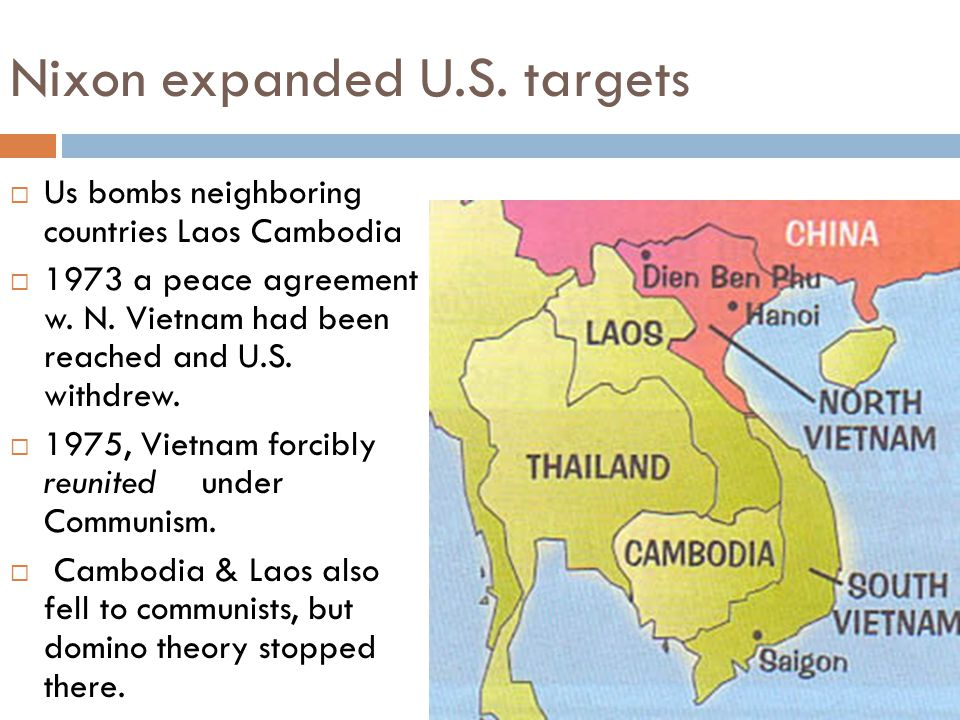 Nixon expanded U.S. targets