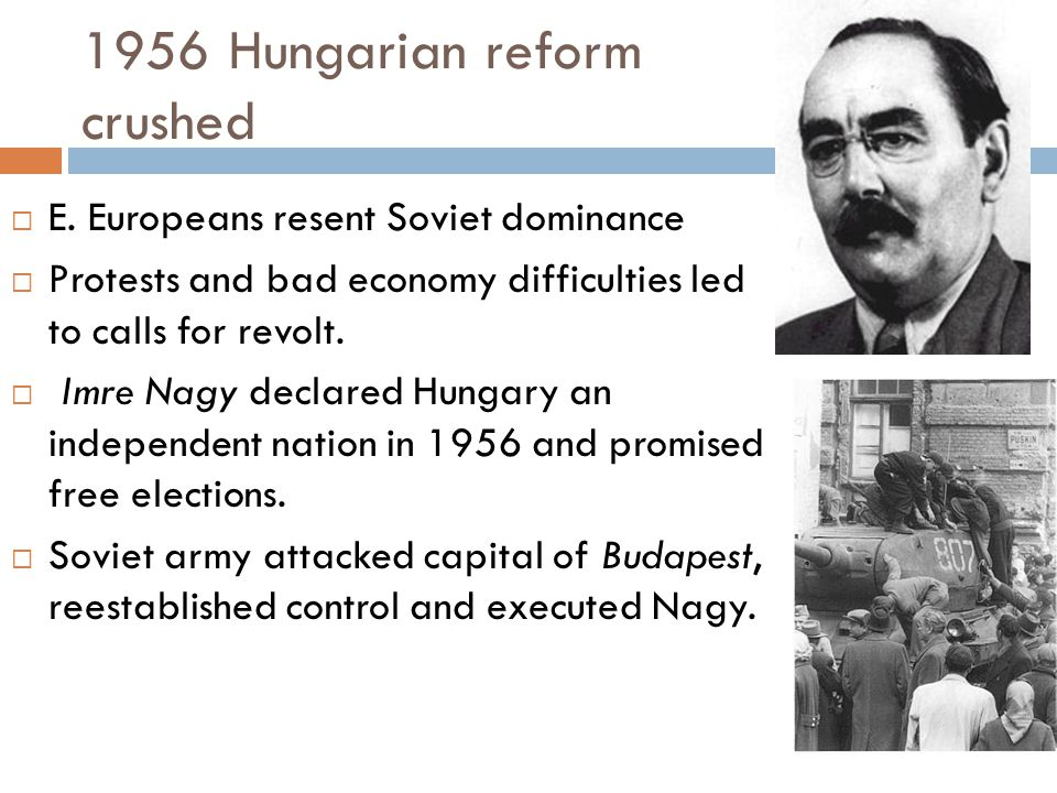 1956 Hungarian reform crushed