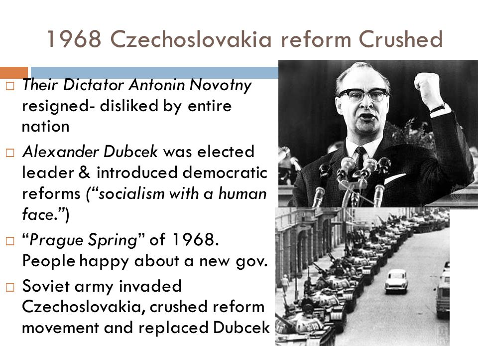 1968 Czechoslovakia reform Crushed