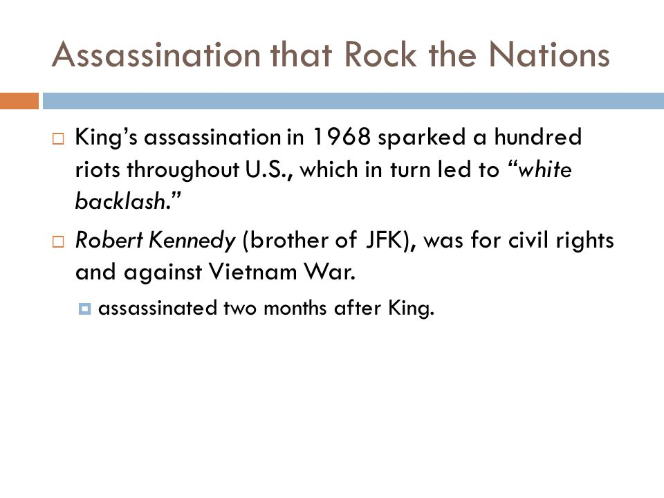 Assassination that Rock the Nations